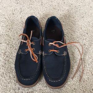 H&M Dark Blue Boat Shoes